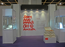 HK_HKCEC_Wan_Chai_蘇富比_Sotheby's_Preview_拍賣_預展_Tony_and_Marc's_Red_Auction_sign_Oct-2013
