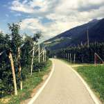 Super Radweg bei Prad am Stelvio Pass.