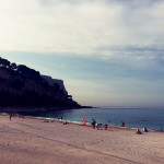 Der Strand von Cassis an der Cote d'Azur
